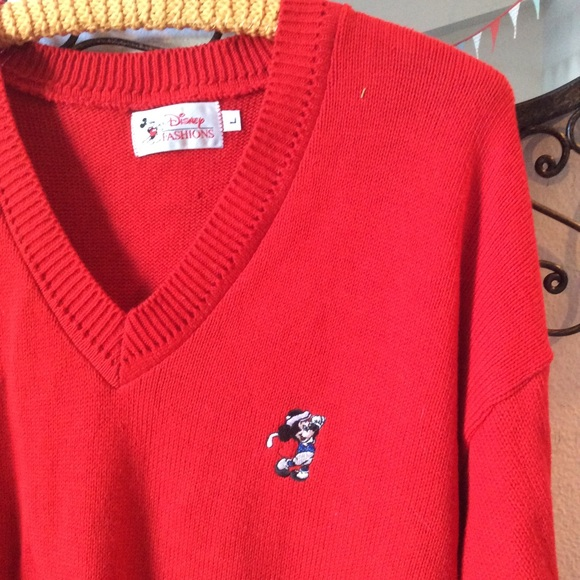 Disney Other - Disney Vintage Mickey Mouse Golf Sweater Golfing